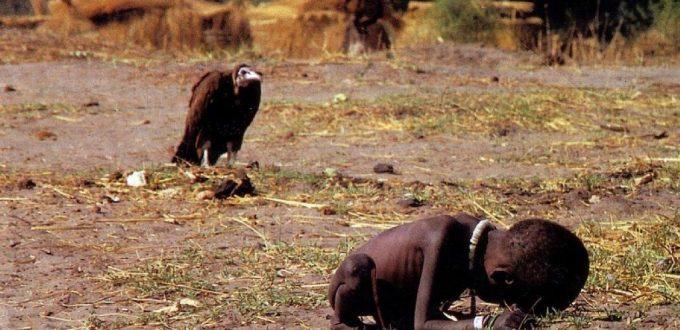 vultur si copil Sudan
