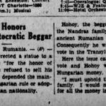 Cum a ajuns Hunedoara celebră în presa americană: statuia ridicată în onoarea cerşetorului care nu şi-a vândut ţara