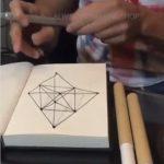 Creion/Pix ce deseneaza 3D si colorat